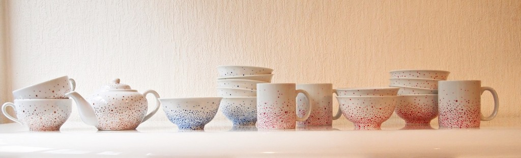 porcelaine, céramique, peint à la main, peinture, point, s'envoler