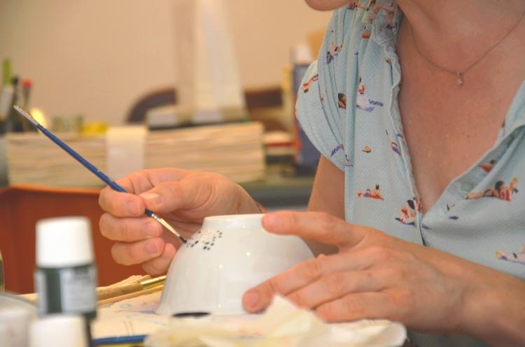 Atelier Peinture sur porcelaine Estelle Mademoiselle