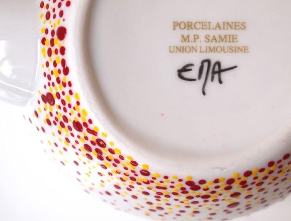 Theiere Elevation marsala et jaune Estelle Mademoiselle Atelier EMA signature