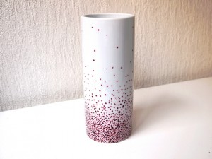 Vase tube elevation bordeau estelle mademoiselle atelier ema